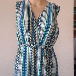 Philosophy Maxi Dress sleeveless V-neck braid trim